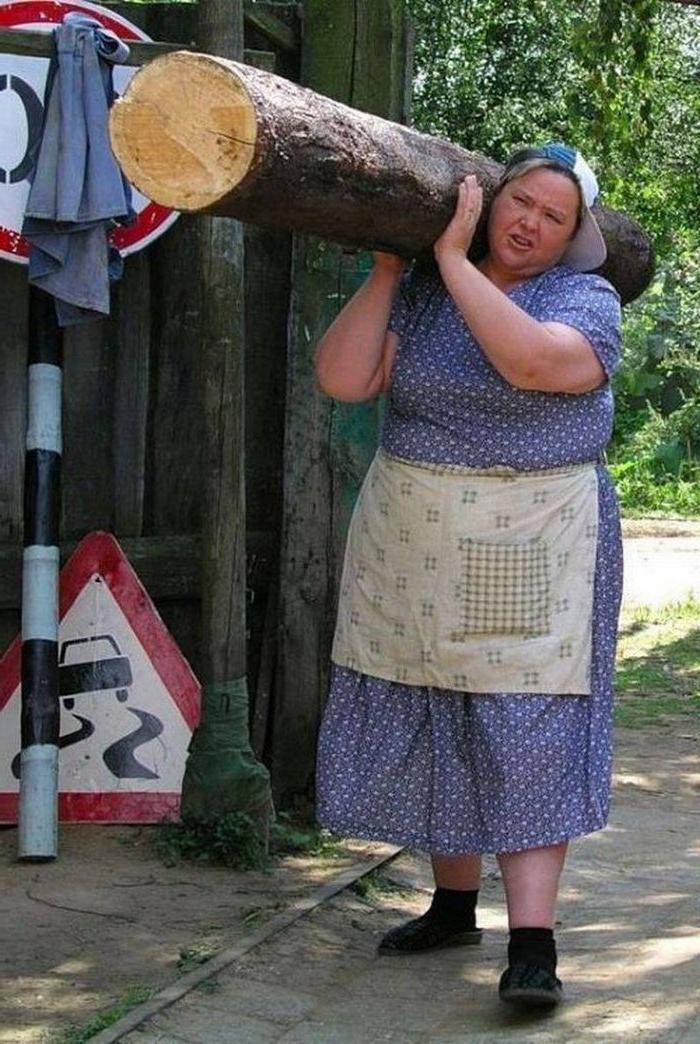 mujer forzuda