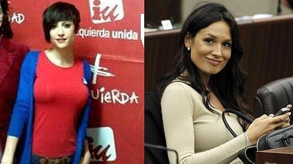 Eva Aizpurúa de Izquierda Unida y Nicole Minetti.
