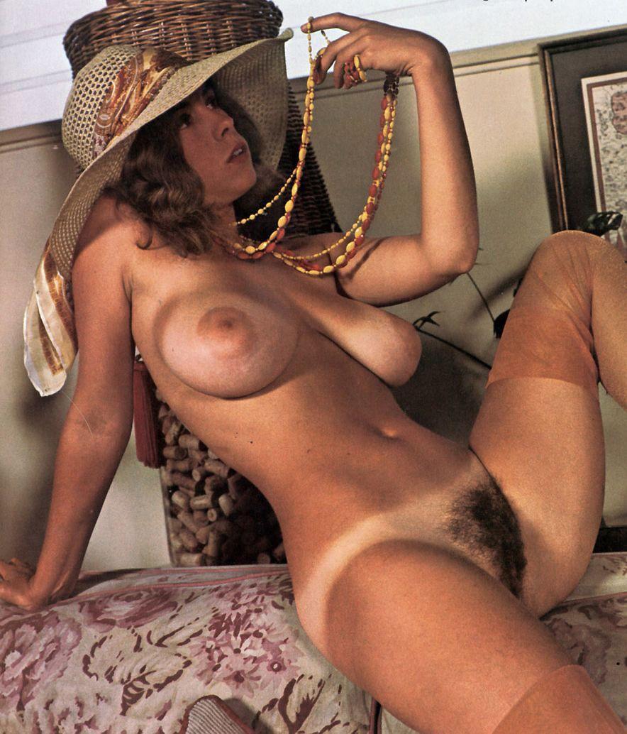 Topless and Bush of Pornstar Christine De Shaffer