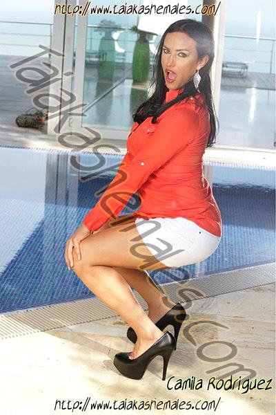 Camila Rodriguez travesti en Malaga elegante top trans