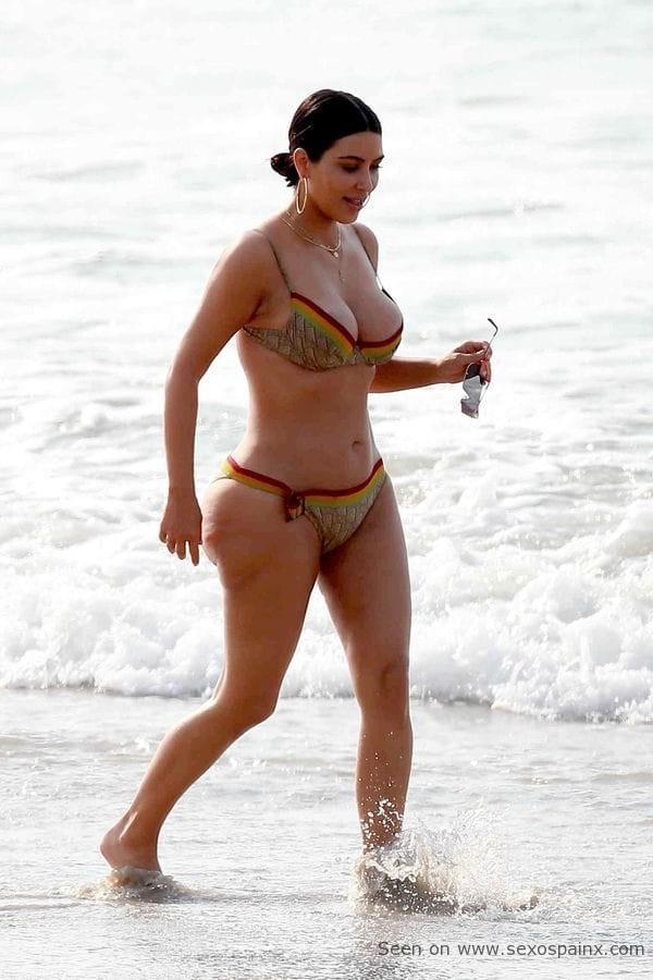 El cuerpo desnudo de Kim Kardashian.