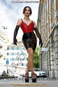 Helena del Monte travesti en Madrid